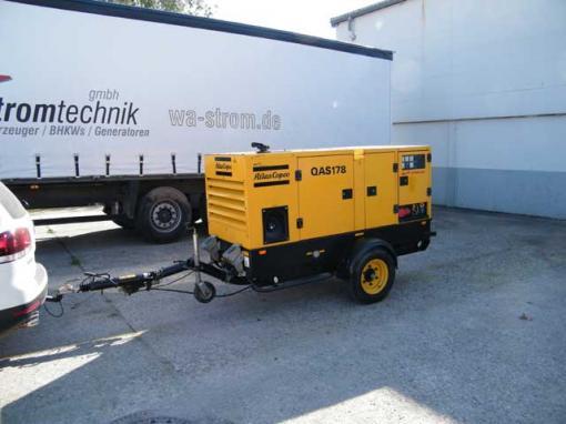 qas 78 mobile atlas copco diesel generator set 78 kva. Black Bedroom Furniture Sets. Home Design Ideas