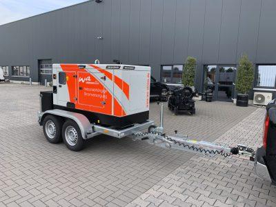 Mobil Strom mit einem 50 kVA Iveco Stromerzeuger mit ISO