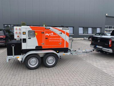 Yanmar Stromaggregat wettergeschützt und schallgedämmt und Mobil mit Trailer