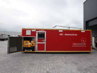 Stromerzeuger im Atemschutzcontainer
