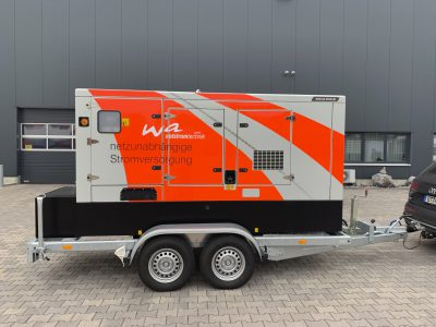 Notstrom mit Iveco Motor mobil 160 kVA
