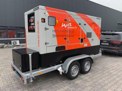 Mobiler Notstrom mit Iveco Motor mobil 160 kVA